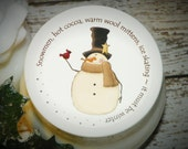 Christmas Gift, Whipped Body Butter, Snowman, Snowmen, Unique Gift, Stocking Stuffer, Christmas (It Must Be Winter Snowman with Red Bird)