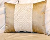 "SALE Silk Dupioni Oblong Pillow Cushion Lumbar Raw Silk Pillow Throw Decorative Pillow Scatter Cushion Rectangular  Pillow 16"" by 12"""