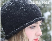 The Laura Hat is an easy first project to knit, this sweet hat has a brim that rolls all on its own!
