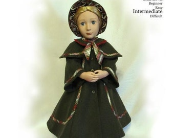 "PDF Pattern KDD07-16 ""Victorian Christmas Caroler""Fits 16""~A Girl For All Time Dolls~Original KeepersDollyDuds Design"