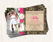 Cowboy Cowgirl Nature High School College Graduation Announcment or Sweet 16 Sixteen Birthday Party Invitation - Any Color