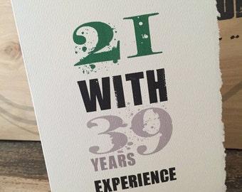 60th birthday [ birthday card / 60 ]