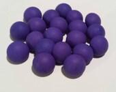 "20 Dioxizine Purple Shank Buttons, Matte finish, size 1/2"""