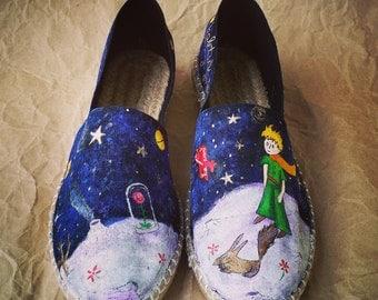 Le Petit Prince - Little Prince Hand Painted Shoe - Espadrille