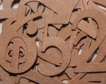 """Numbers, Numbers Die Cut, Chipboard Numbers, Die Cut Numbers, Table Numbers, Sizzix Numbers 2"""" Tall, 1 to 20, 1 to 30, 1 to 40, 1 to 50"""