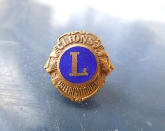 Vintage Lions International Lapel Pin Enamel Tie