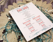 Coral and Teal Wedding Ce...