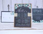 Mint Floral Wedding Invit...