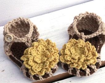 Baby Girl Sandals, Crochet Sandals, Baby Sandals
