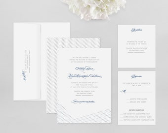 Wedding Invitation Modern Sample - Dotted - Wedding Invitation, Modern Wedding Invitation, Modern Wedding Invitations, Wedding Invitations