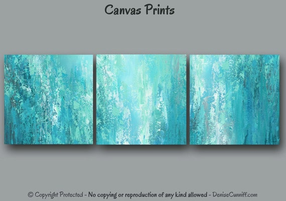 Abstract Painting Print Set Canvas Wall Art Ready By Artfromdenise