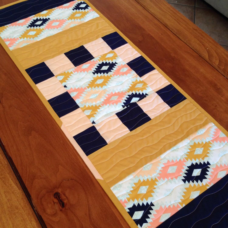 Arizona modern table runner quilt southwest by charleydeeandme for Modern table runner