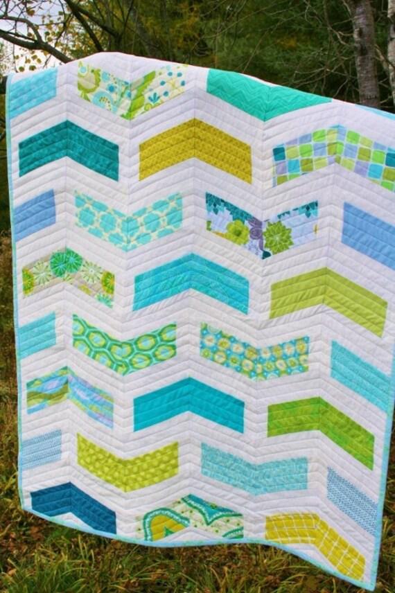Chevron BABY QUILT PATTERN Modern Quilt Pattern Instant : modern baby quilt pattern - Adamdwight.com