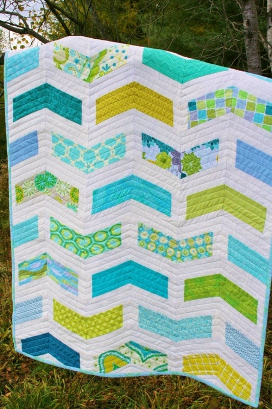 Modern Quilt Patterns Free Download : Chevron BABY QUILT PATTERN Modern Quilt Pattern Instant