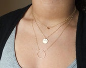 Personalized Layered Necklaces - Triple Strand Layered Set - Eternity Necklace Set - Delicate Gold Necklaces - Customized Necklace