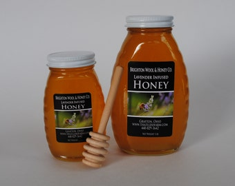 Lavender Infused Raw Wildflower Honey 1 lb.