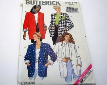 Butterick 5274  Pattern Jacket Pattern 1990's size 14-18  Vintage