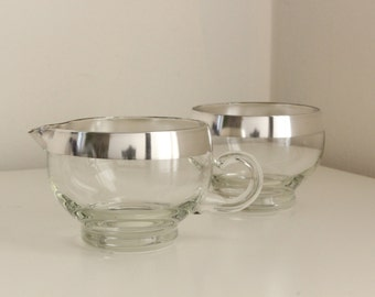 Dorothy Thorpe Cream & Sugar Set — Sterling Silver Banded