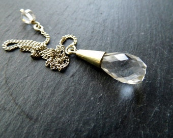 Silver Pendant, rock crystal pendant, pendant, silver, rock crystal, mysticism, Wicca, witch