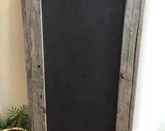 Chalkboard reclaimed barnwood