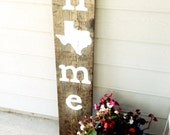 Home Front Door Sign with Texas