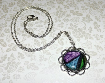 Broken Butterfly Wing Marble Necklace