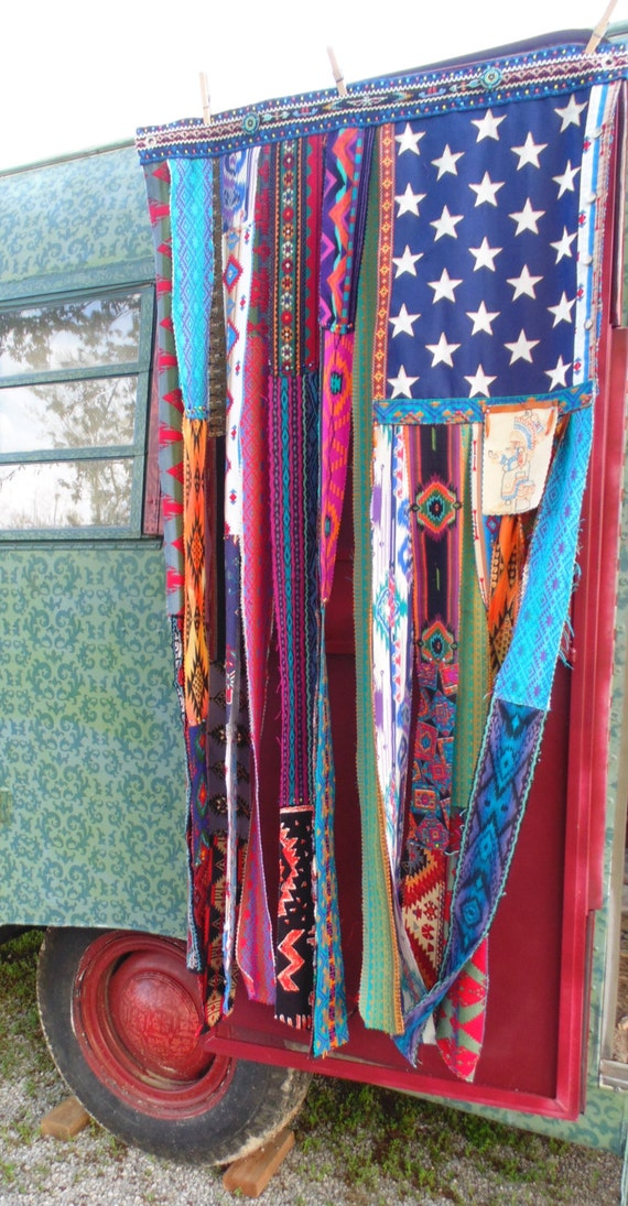 boho american flag bohemian beaded curtain the peace