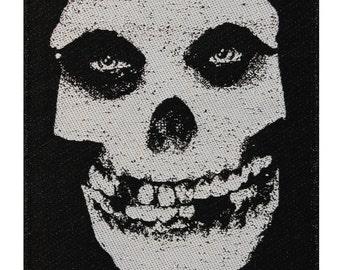 Misfits Fiend Skull Logo Hardcore Horror Punk Band Woven Sew On Applique Patch