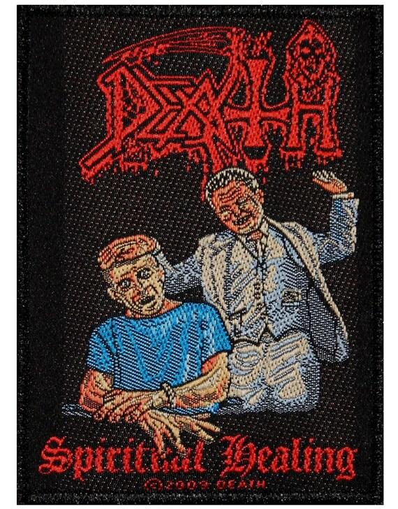 Death Spiritual Healing Album Art Metal Band Music Woven Sew Spiritual Healing Album