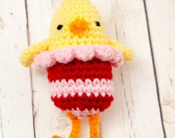Chick Crochet Rag Doll Plush - Delilah