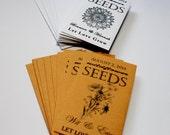 Flower Seeds, Seed Packets, Wildlfower Seeds, Sunflower Seeds, Fall Wedding, Summer Wedding, Baby Shower Favors, Seed Packet 1-5 Sets