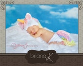 PATTERN Instant Download, Newborn-12 Months Unicorn Hat and Diaper Cover Set