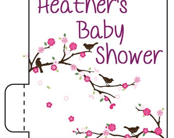 24 Bird Baby Shower Lip Balm - Baby Shower Favors - Custom Shower Favors - Woodland Baby Shower
