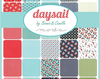 "Moda Sample Spree Sale Daysail Charm Pack Fabrics 42 - 5"" Fabric Quilt Squares Kit"