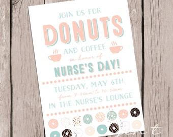 Donut Invitations - Nurse Appreciation