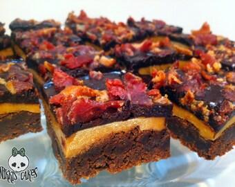 Caramel Bacon Brownies. 1 dozen.