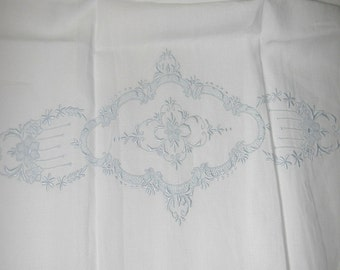 "No. 200 Hand Embroidered Appenzell Fine Linen Hand Towels; 17"" x 34"" PRISTINE"