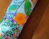 Cotton Owl Print Pencil Roll