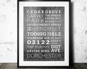 Dorchester 02122 Poster - 11x14