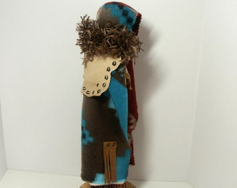 Deer Woman, art doll Cheyenne Native American Indian no face collectible folklore