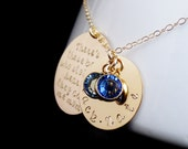 Personalized Mommy Necklace, Mom to Boys, There's These Boys They Call Me Mom, Mother Mom Sons, Swarovski, Handstamped, Valentines Mothers