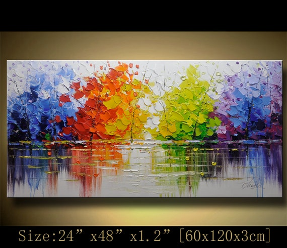 Original Abstract Painting, Modern Textured Painting,Impasto Landscape Textured Modern Palette Knife Painting,Painting on Canvas byChen g083