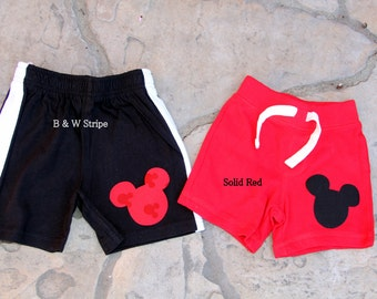 Mickey Mouse Inspired Birthday Shorts or Pants, Baby Boy First Birthday Disney Inspired Clothing Birthday Party Little Man