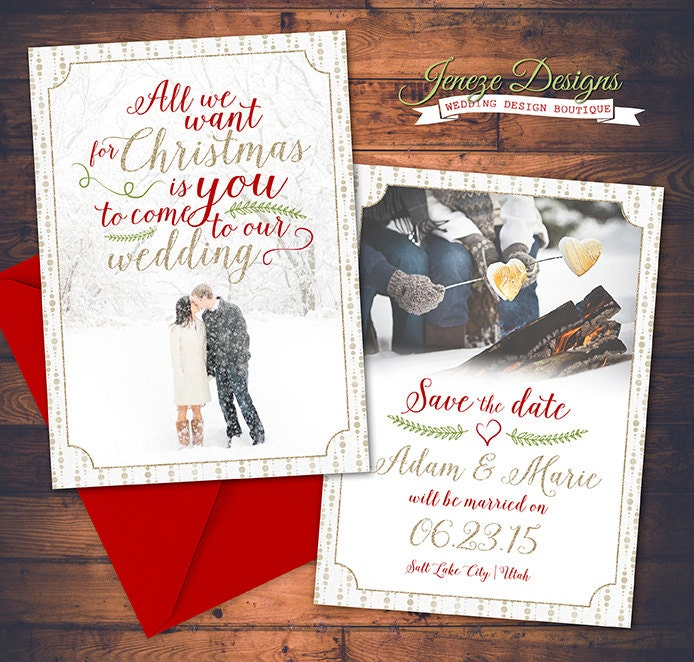 save the date christmas cards