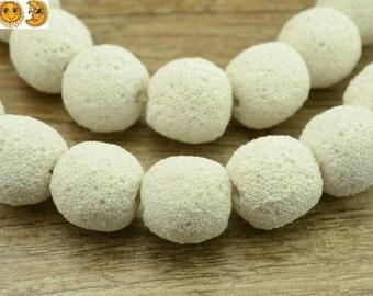 15 inch strand of Lava matte round beads 8mm