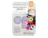 Fun Starter Mini Embroidery Kit for mini designs - DIY - hand embroidery kit -  - by DANDELYNE