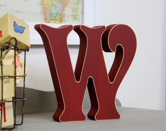 free standing wooden alphabet letters victorian font choose any letter