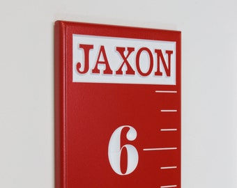 Carved Wooden Ruler Growth Chart For Children With A Personalized Engraved Name