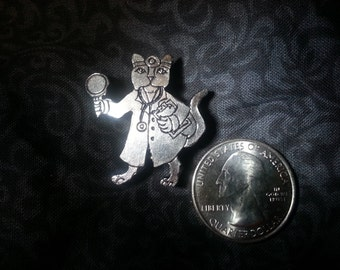 Doctor Kitty  (Cat Scan !) Pewter Pin