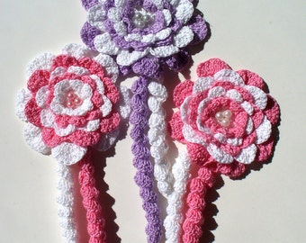 Handmade Crochet Flowers: Carnations